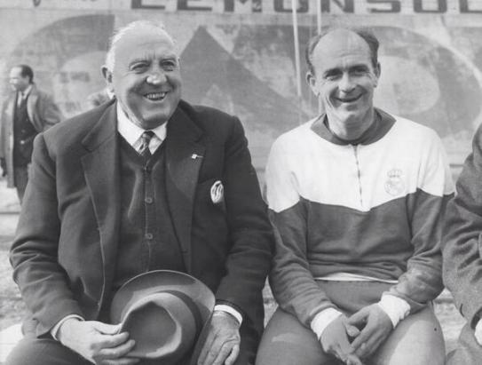 Former Real Madrid President with Alferdo Di Stefano. Image Courtesy: Twitter