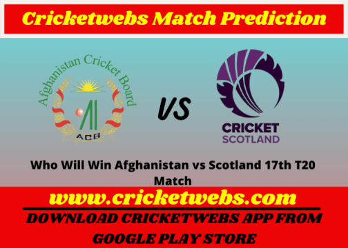 Afghanistan vs Scotland 17th T20 World Cup 2021 Match Prediction