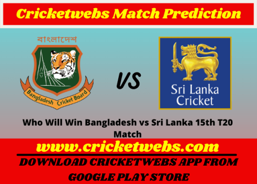 Bangladesh vs Sri Lanka 15th T20 World Cup 2021 Match Prediction
