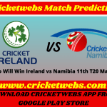 Ireland vs Namibia 11th T20 World Cup 2021 Match Prediction