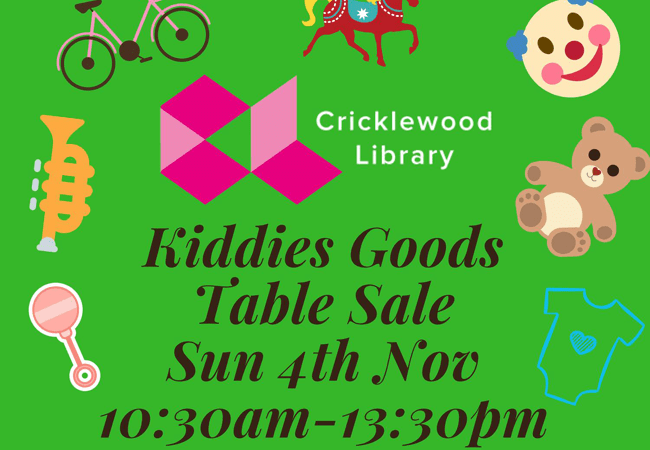 Kids Stuff Table Sale