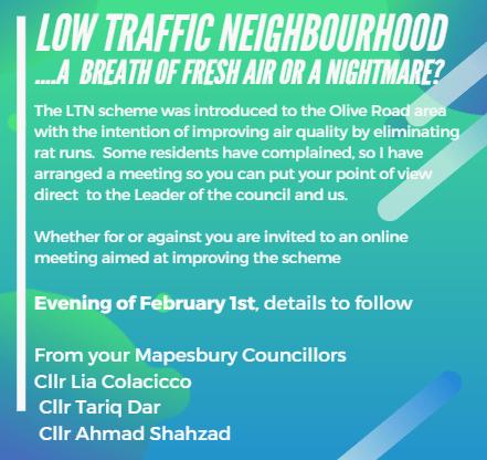 Low Traffic Neighbourhood Scheme