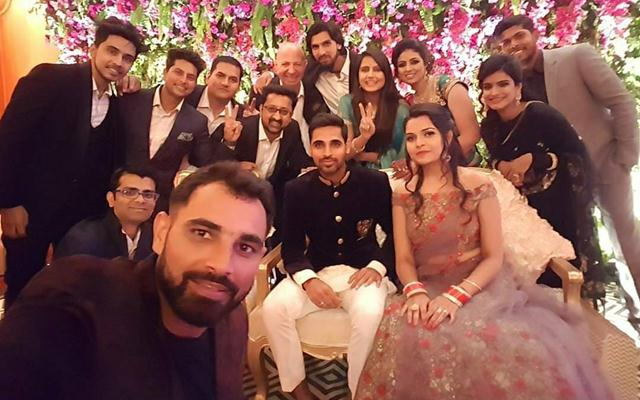 Team India at Bhuvneshwar Kumar's wedding