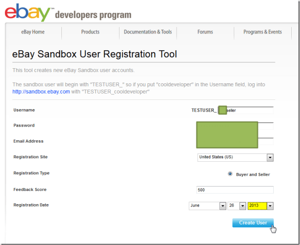 create second user for sandbox