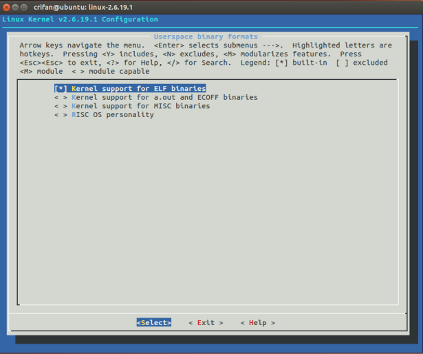Userspace binary formats