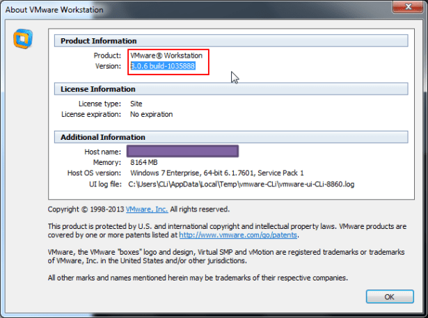vmware indeed is 8.0.6 version