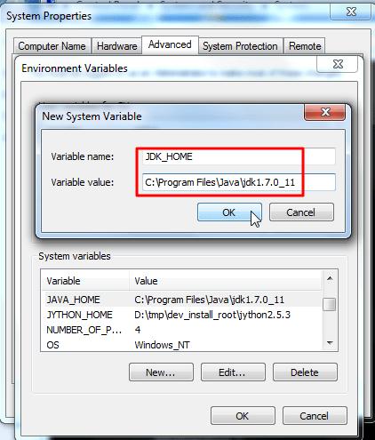 set jdk home environment variable
