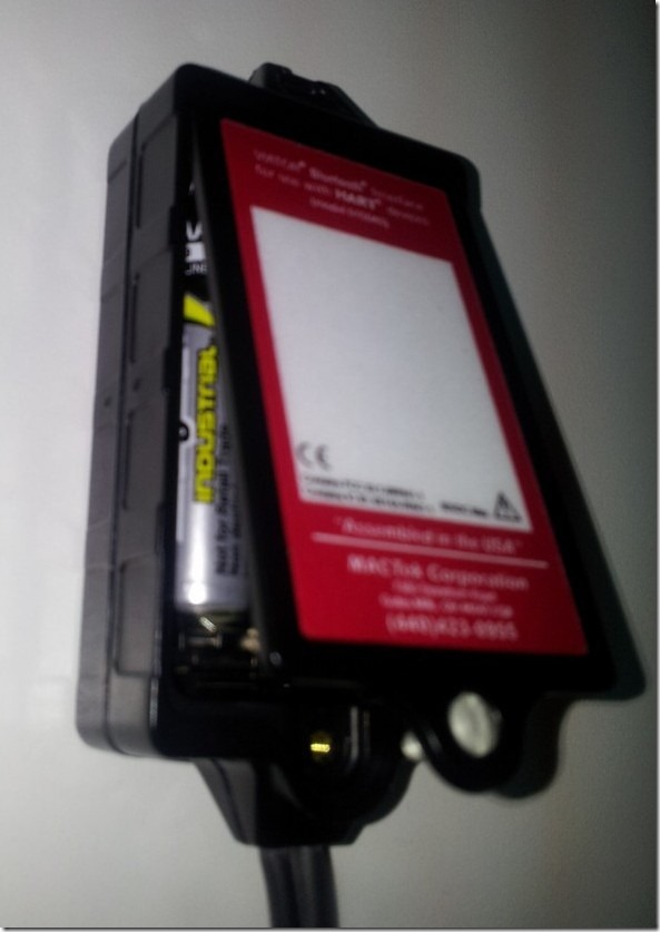 will close rear to added battery for bt hart modem