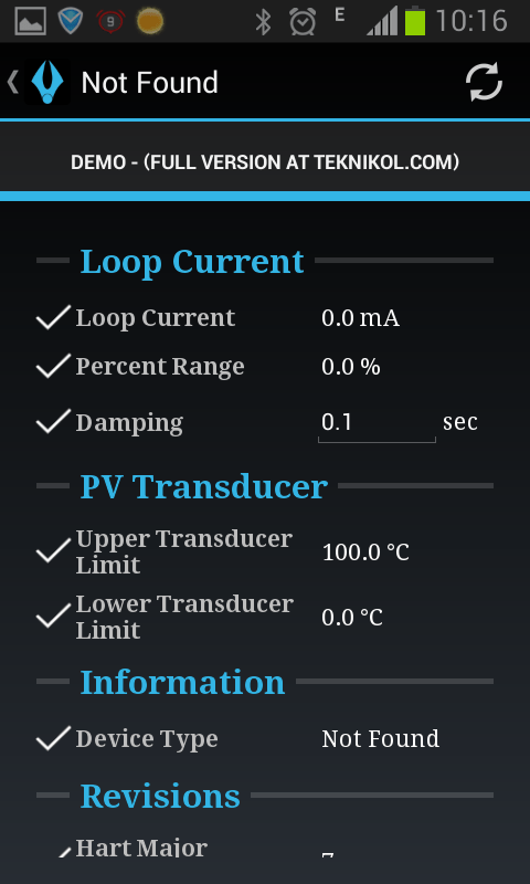 loop current PV transducer infomation