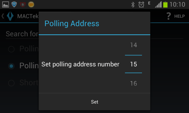to 15 polling address