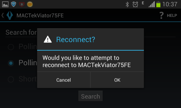 would you like to reconnect MACTekViator75FE
