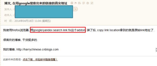 somebody recommand me the firefox addon for fix google original link