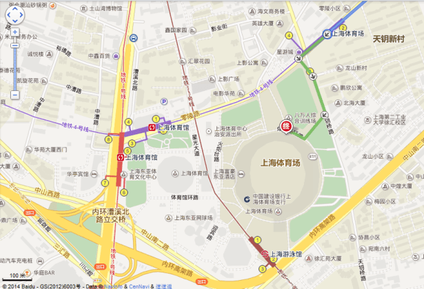 shanghai stadium location map overview