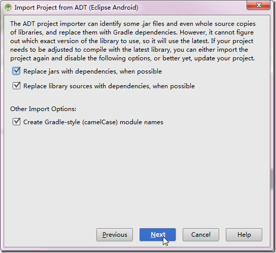 import project from adt eclipse android
