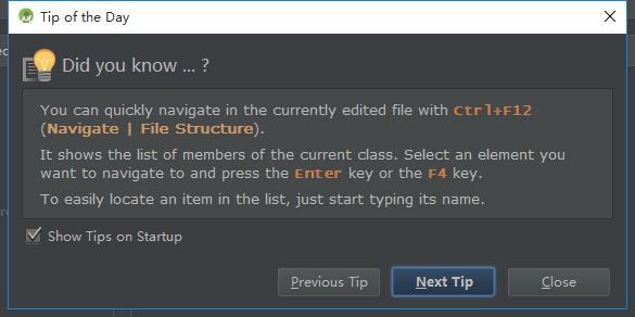 ctrl f12 navigate file structure