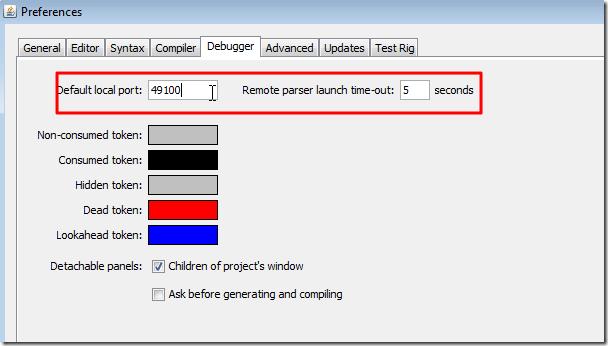 debugger settings is ok