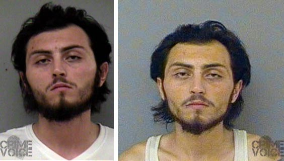 Kyle Cevasco in two recent Madera County booking photos.