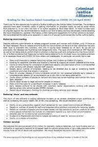 CJA Resource 16 CJA JSC Covid 19 briefing 160420 1 April 2020 cover page