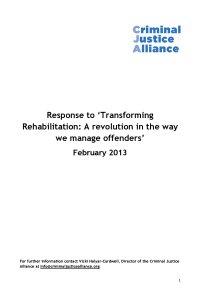 TransformingRehabilitationCJA FINAL cover page