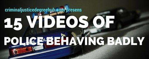 15 VIDEOS OF POLICE BEHAVING BADLY