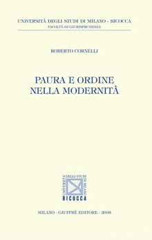Copertina Libro: Paura e ordine nella modernità