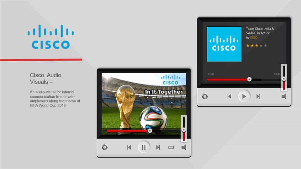 Our Work- Cisco Audio Video Production