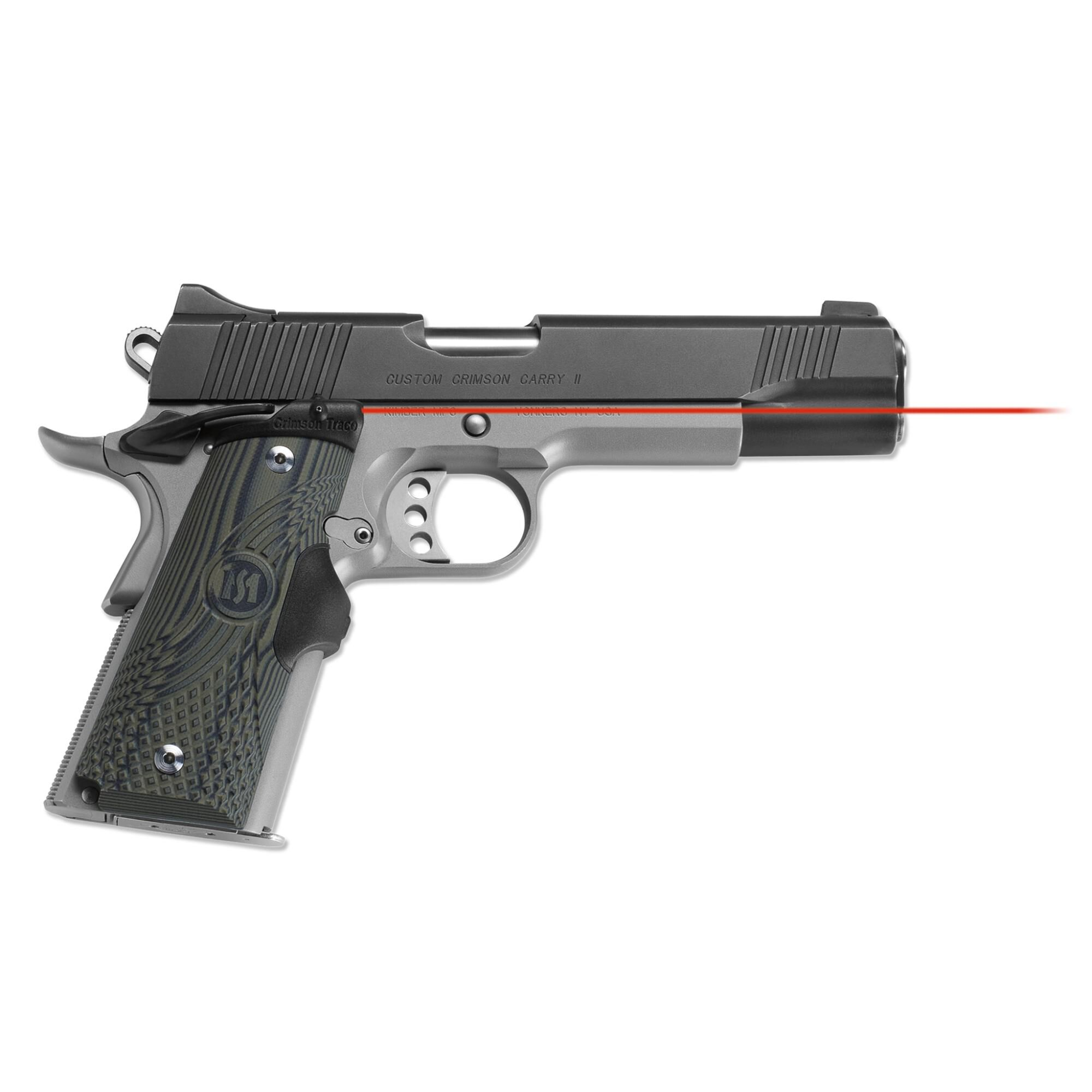 LG-910 Master Series™ Lasergrips® G10 Green for 1911 Full ...