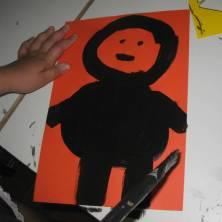 disegno numero 4 di un bambino corvo