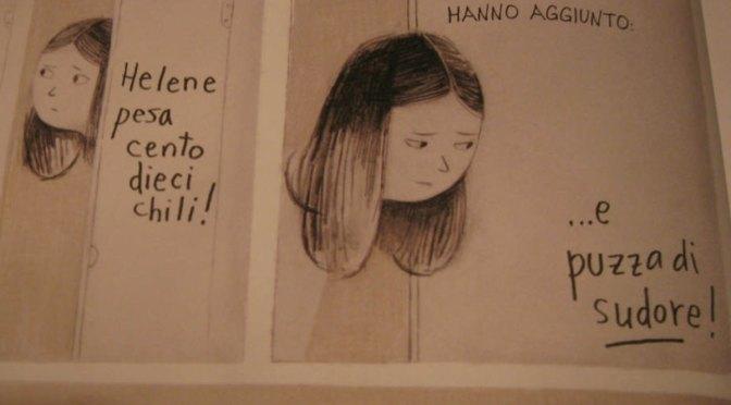 Bullismo al femminile e insicurezze preadolescenziali - Helene trova delle scritte sui muri del bagno