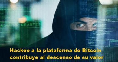 Descenso del bitcoin por hackeo