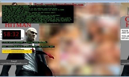 """Nuevo tipo de ransomware utiliza imagen de videojuego """"Hitman"""" y pornografía hardcore"""