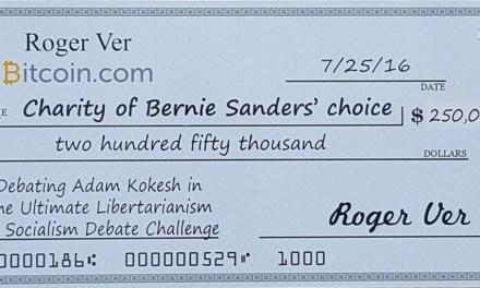 Roger Ver ofrece 250 mil dólares a Bernie Sanders para debatir contra activista libertario