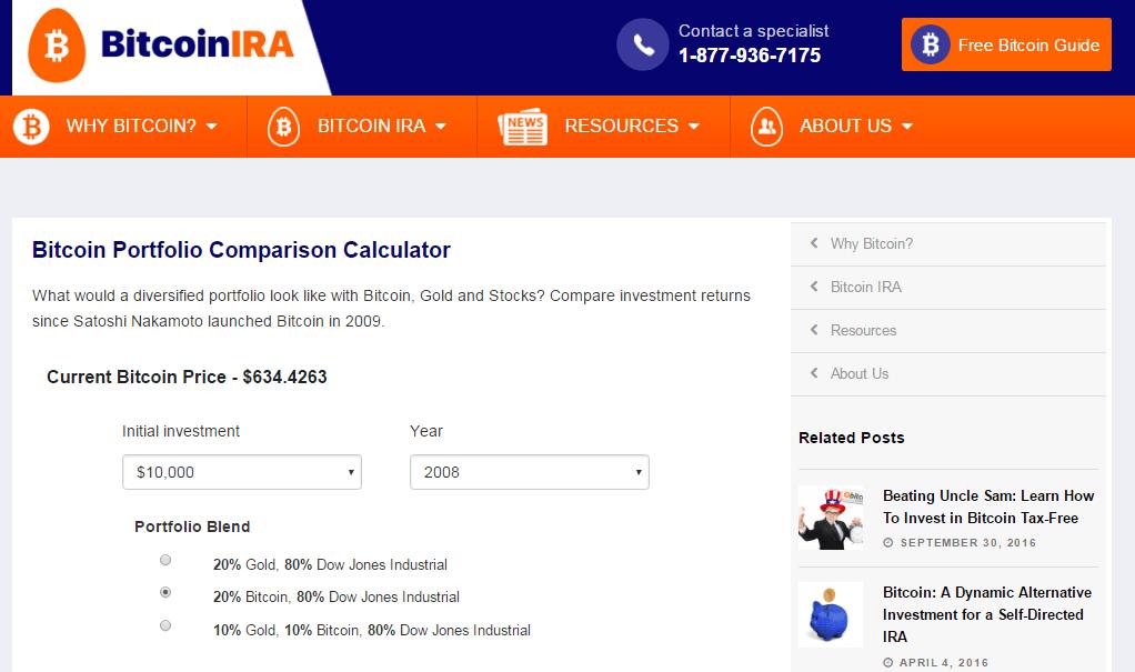 Bitcoin IRA lanza nueva herramienta calculadora IRA para inversionistas