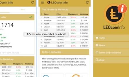 La comunidad LEOcoin lanza aplicación móvil LEOcoin Info para Android y iOS