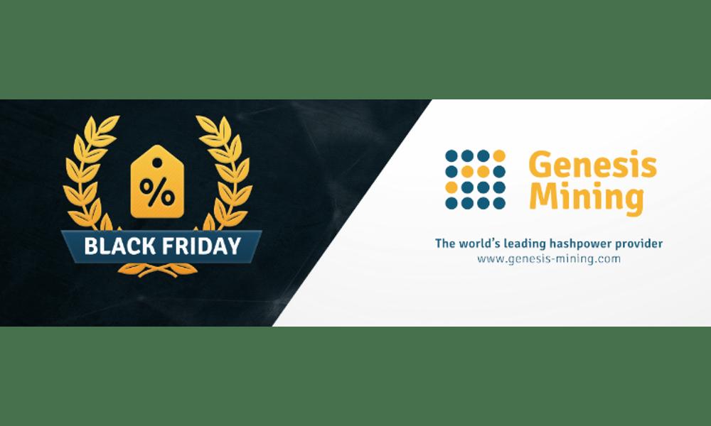 Promoción Black Friday y Cyber Monday de Genesis Mining