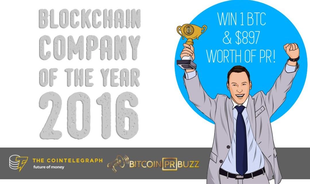"""Bitcoin PR Buzz y Cointelegraph anuncian concurso """"Compañía Blockchain del año 2016"""""""