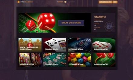 DAO.Casino lanza en alfa su plataforma casino descentralizada y juego de dados respaldado por contrato inteligente