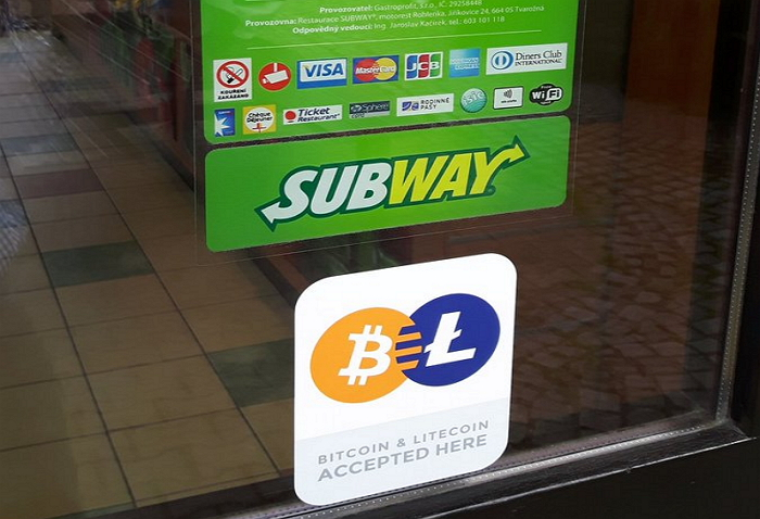 Subway-Litecoin-Bitcoin-República Checa