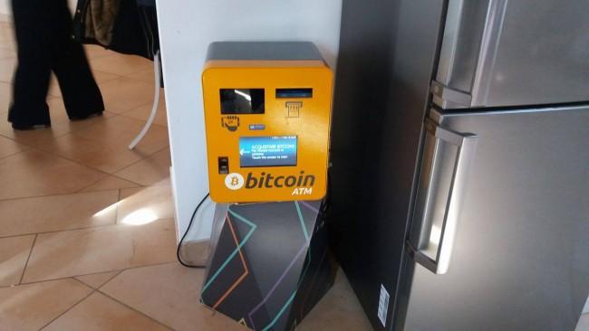Cajero Bitcoin en uno de los establecimientos de la localidad