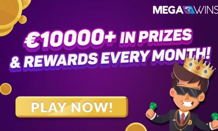 ¡Megawins Bitcoin Casino paga más de €10.000 en premios y recompensas cada mes!