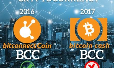 Símbolo de Criptomoneda BCC pertenece a BitConnect Coin, no a Bitcoin Cash