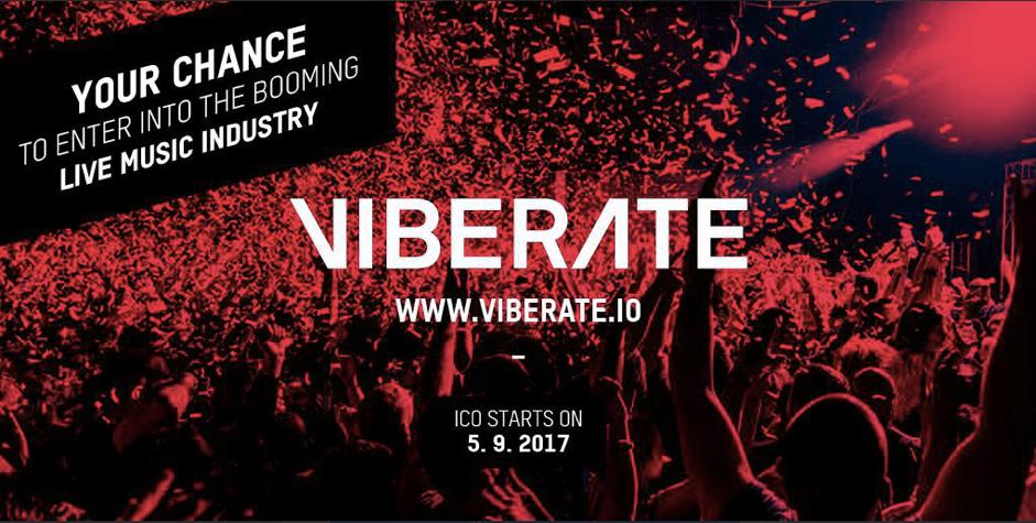 Viberate.io habilita pagos criptomoneda a artistas de música en vivo, ICO comienza el 5 de septiembre