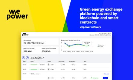 WePower lanza plataforma de energía verde basada en blockchain y anuncia recaudación de fondos
