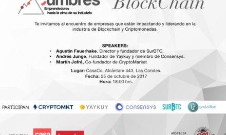 """El próximo 25 de octubre emprendedores chilenos se reunirán en """"Cumbres Blockchain"""""""