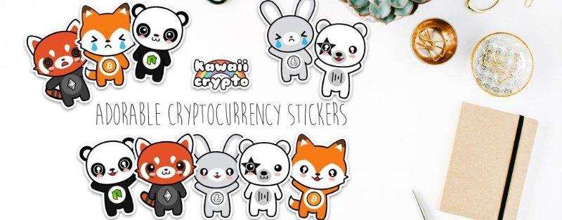 Ya puedes encontrar adorables stickers de criptomonedas en Kawaii Crypto