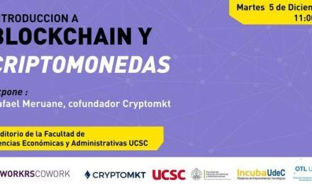 Universidad chilena recibirá conversatorio sobre blockchain y criptomonedas el 5 de diciembre
