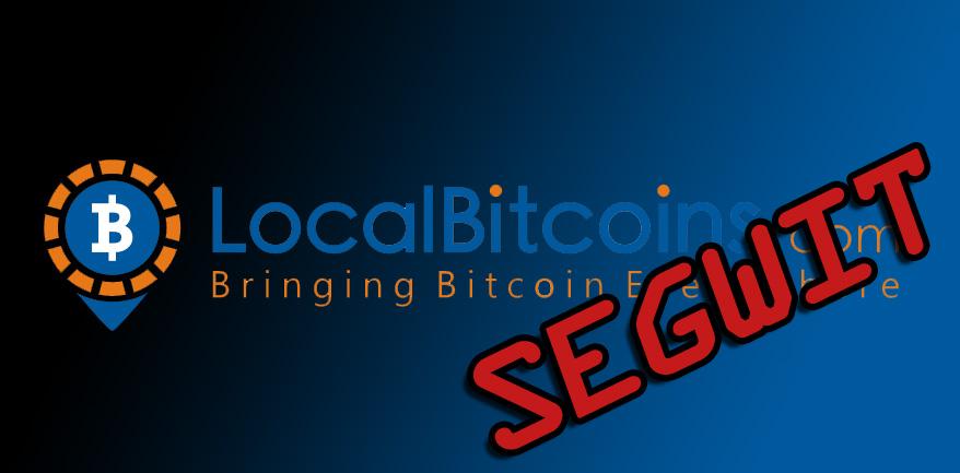 LocalBitcoins implementa SegWit en su plataforma