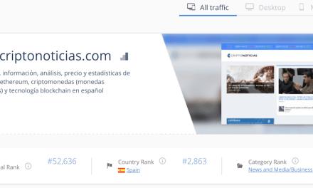 CriptoNoticias se consolida como el medio de referencia en español para negocios, según datos de SimilarWeb