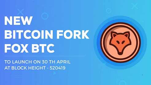 FoxBTC anuncia hard fork para el 30 de abril de 2018