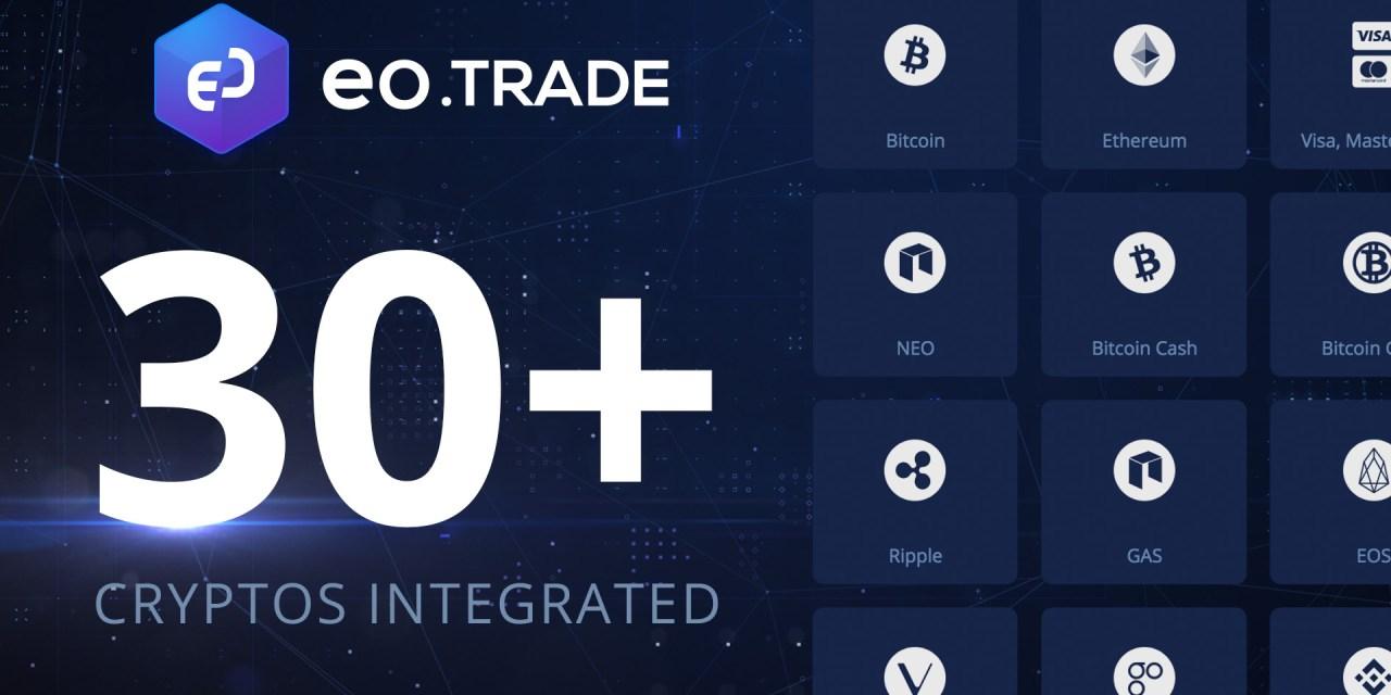ExpertOption anuncia la adición de 30 criptoactivos a la plataforma EO.trade